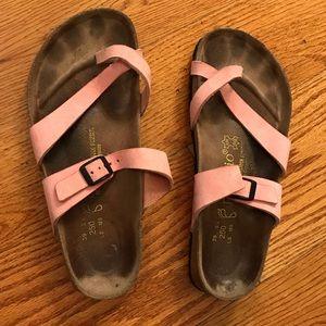 EUC Birkenstock Papillio Sandals, Pink